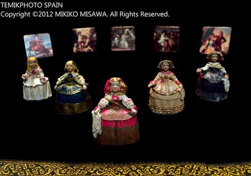 人形と絵カード(マドリード)  1500