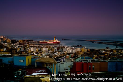 夕暮れのアルメリア港 (アンダルシア地方・アルメリア)  1091