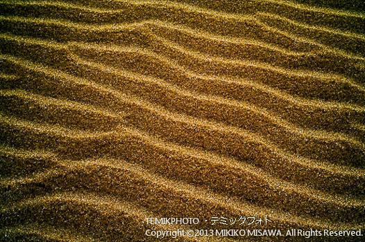 黄金色の砂浜の風紋 (アンダルシア地方・アルメリア)  557