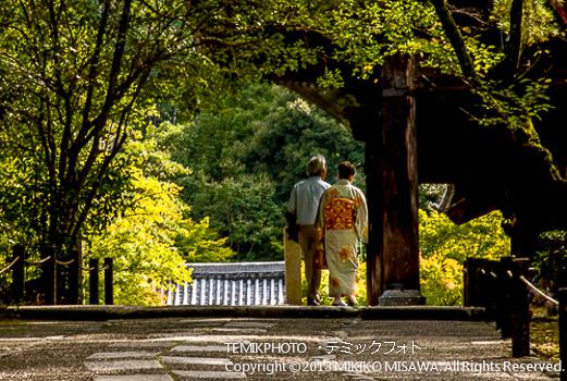 和服姿の女性(京都)  1257