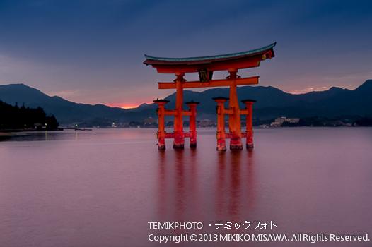 マジックアワー(広島・厳島神社・大鳥居)  1276