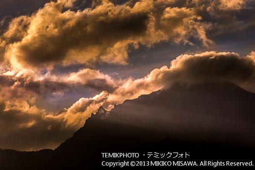 八ヶ岳と雲(長野・野辺山高原)  1291