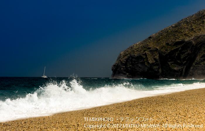 ヨットの見える海岸(アンダルシア地方・アルメリア)  4370