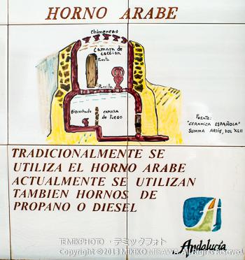 中世からの陶芸説明絵タイル・ソルバス村 (アンダルシア地方・アルメリア)  4632
