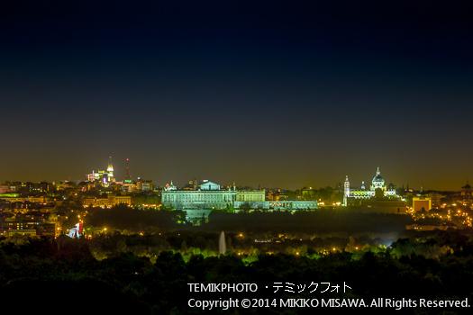 夜の王宮とアルムデナ大聖堂  11340