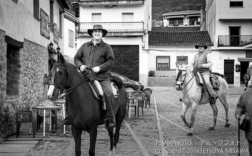馬で谷を散策する人々  8446