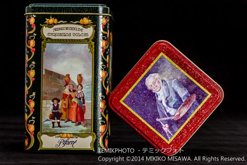 キャンディの缶(ゴヤの肖像画・タピスリー製作用油彩画) 13410