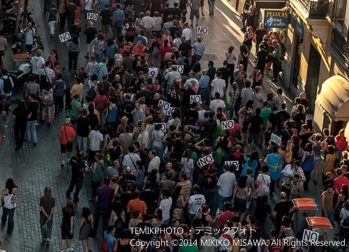 マドリードのデモ行進  15463
