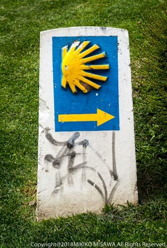 サンティアゴ巡礼道の道標(カスティージャ・イ・レオン地方)  11542