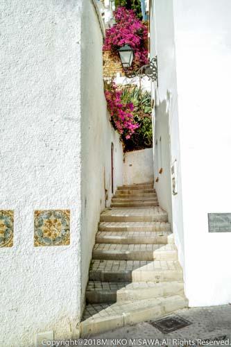 路地裏の階段(地中海沿岸地方の村)  24555