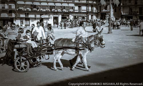 村の広場:スペイン・チンチョン村  26001