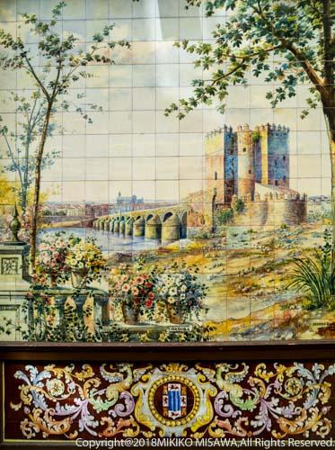 タブラオ・フラメンコ「ビジャ・ロサ」外壁 絵タイル(アンダルシア地方コルドバの風景)(マドリード)  28840