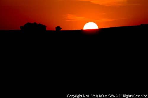 丘に沈む夕日(アンダルシア地方・コルドバ)  715