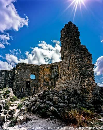 廃墟になった古城(ラ・マンチャ地方・クエンカ)  9860